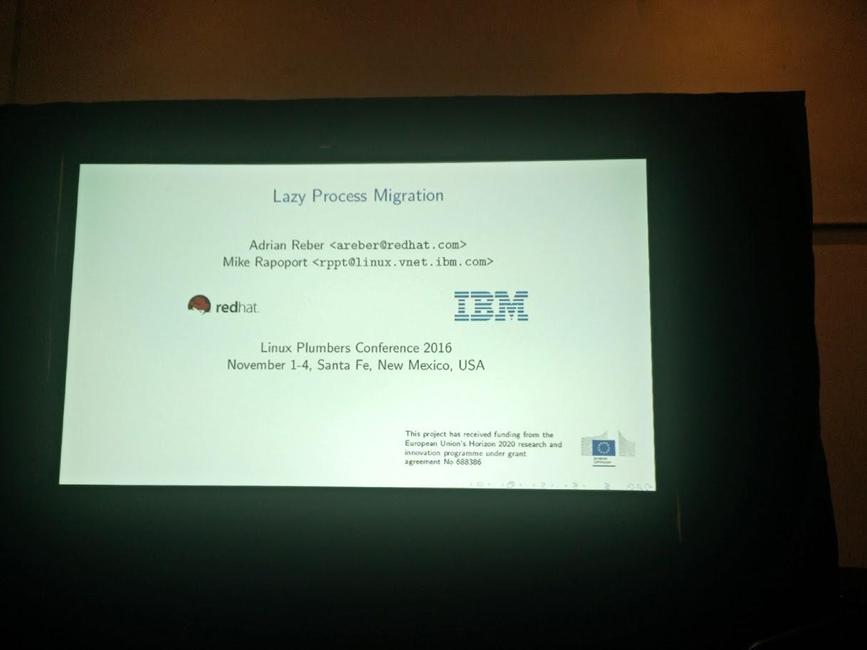 IBM @ Linux Plumbers 2016